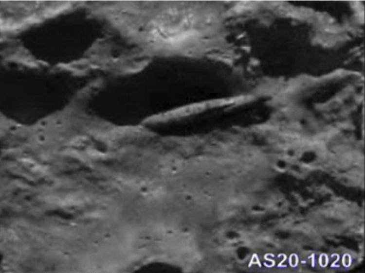 Один из снимков НАСА, на которых виден сигарообразный объект.