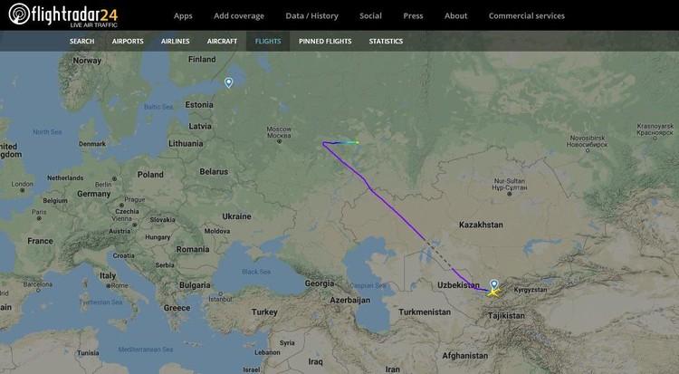 Самолет не успел долететь даже до Москвы.