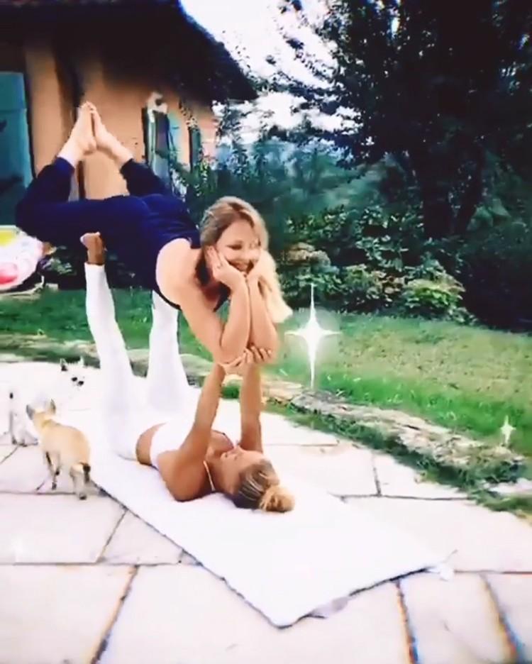 Актриса показала видео, снятое во время тренировки. Фото: кадр видео.