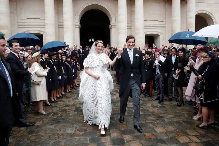 Свадебная церемония прошла в соборе Святого Людовика Инвалидов в Париже