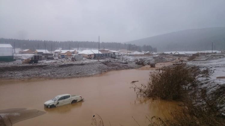 Прииск в районе реки Сейба.
