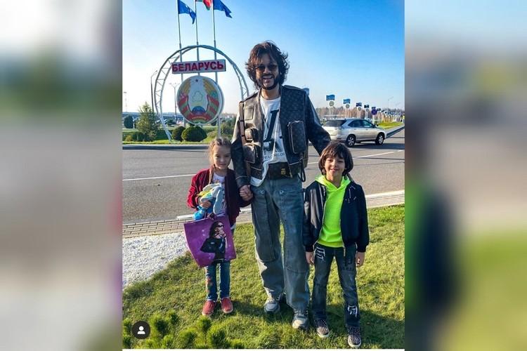 Киркоров прилетел в Минск вместе со своими детьми. Фото: соцсети.