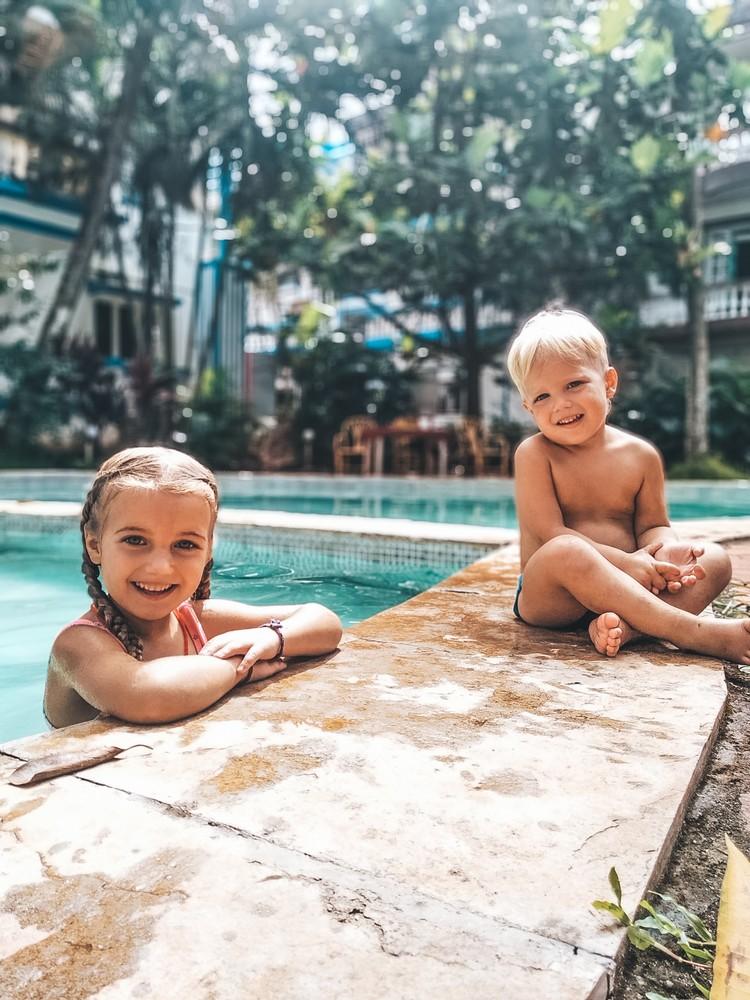 Дочке Алене пять лет, а сыну Андрею - два полных годика. Фото: личный архив