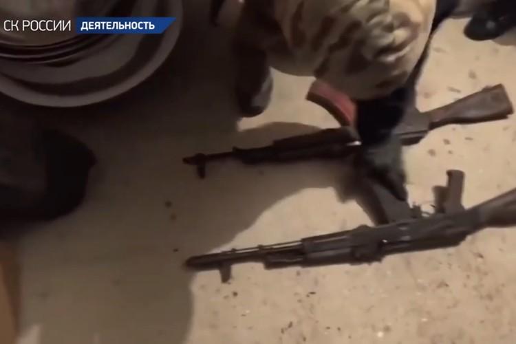 Экс-премьера подозревают и по статье «хранение оружия». У него нашли пистолеты, пистолет-пулемёт и два автомата Калашникова. Фото: СК РФ