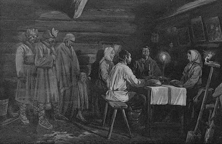 Так представляли предки приход умерших близких за поминальный стол. Фото: Wikipedia.org