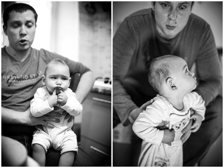 Артем с сыном. Фото: Елена Ерастова