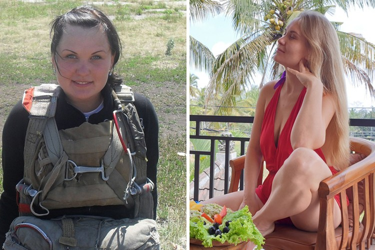 Ксения в Челябинске 10 лет назад и сейчас на Бали. Фото из личного архива героев.