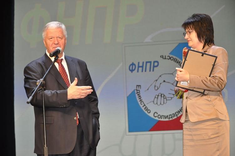 Председатель ФНПР Михаил Шмаков на праздновании Дня профсоюзного курорта на КМВ.