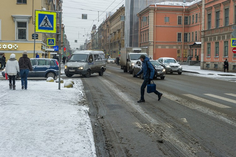 В конце октября на улицы лег снег, но через несколько дней растаял.