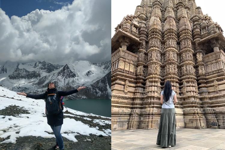 Девушка покоряла горные пики и исследовала святые места Азии