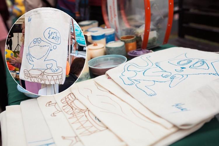 """Таких забавных героев рисует на экосумках один из особенных мастеров Фото: """"Добрый-Юг"""""""