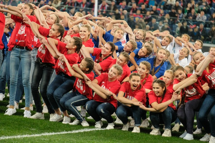 Группа поддержки у сборной России была на высоте
