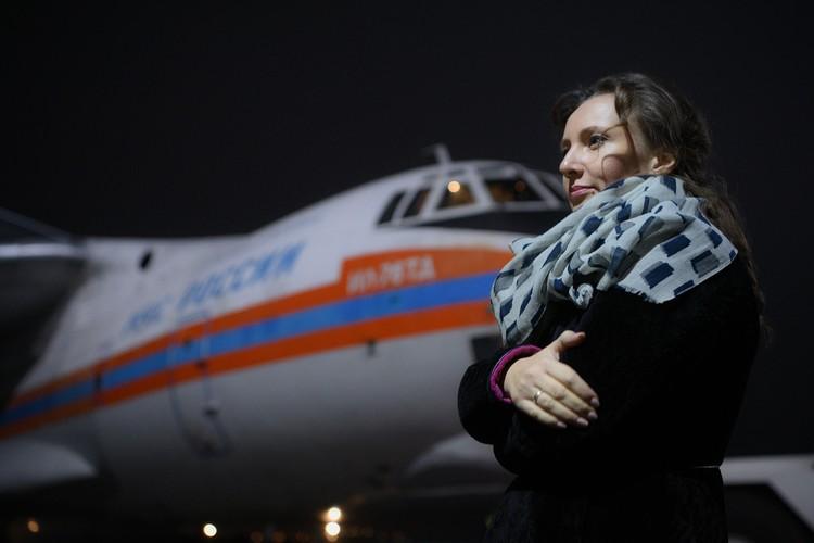 В Москве борт встречала детский омбудсмен Анна Кузнецова. Фото: Пресс-служба Уполномоченного по правам ребенка