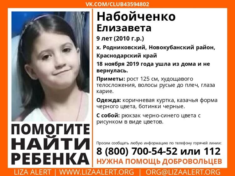 Поиск Лизы Набойченко