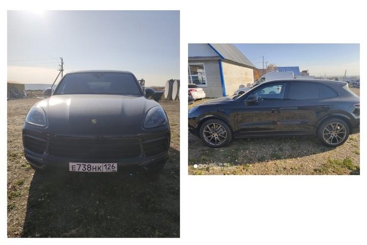 Фото: изъятый следователем автомобиль «Porsche Cayenne S»