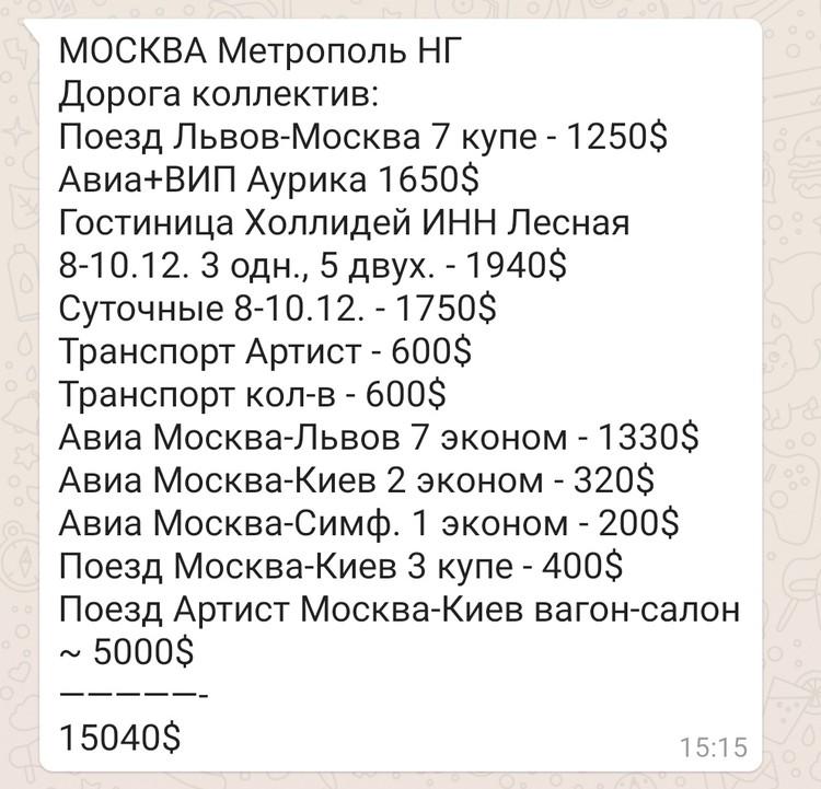 Генеральный менеджер одного из столичных агентств поделился с «Комсомольской правдой» результатами переговоров и переписки с менеджментом Софии Ротару о выступлении певицы.
