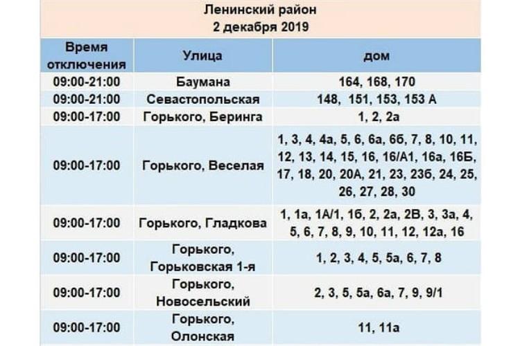"""Отключение электроэнергии 2 декабря в Иркутске и Иркутском районе. Фото: группа """"Свет 38"""" в соцсети Facebook."""