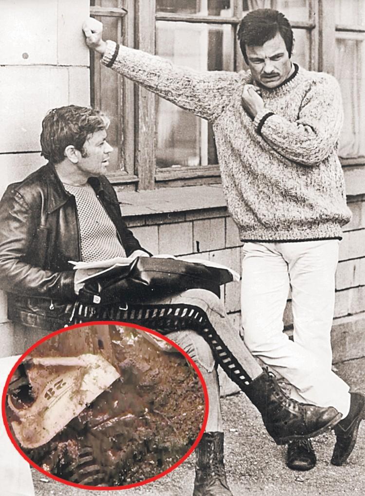 Андрей Тарковский и Донатас Банионис на съемках «Соляриса» (1972) и тот самый лист календаря. Фото: Getty Images, Кадр из фильма