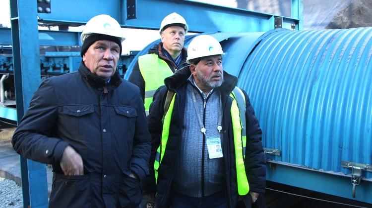 Исполнительный директор «Терминал Астафьева» Александр Ганин провел экскурсию по объекту