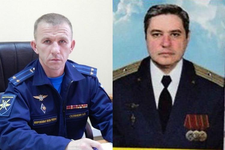 На фото командир экипажа Александр Склянкин (слева) и заместитель Руслан Кушниренко.