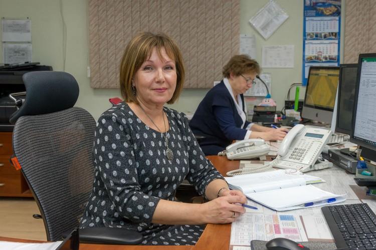 Диспетчер Центрального диспетчерского управления Ольга Елисеева.