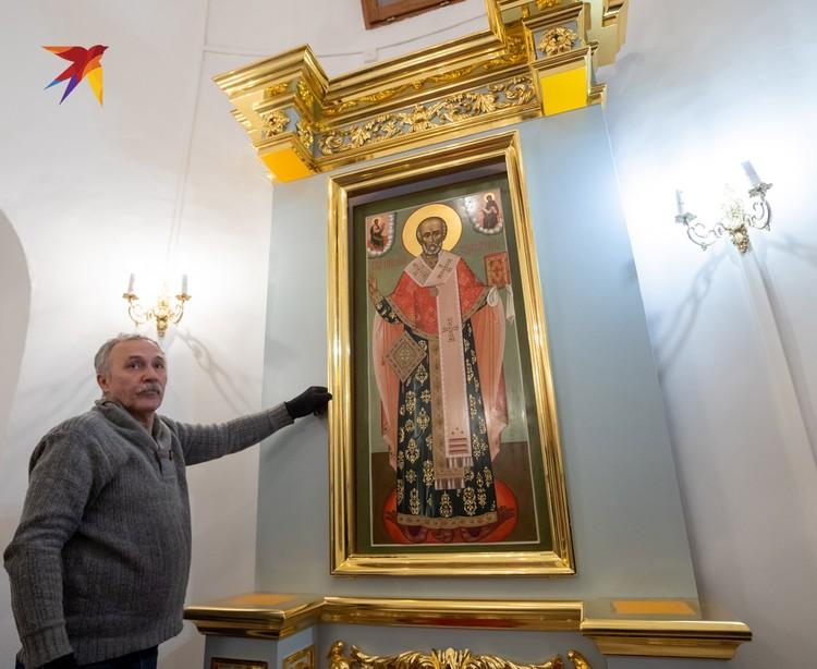 Часть икон монастыря были восстановлены, часть написаны заново