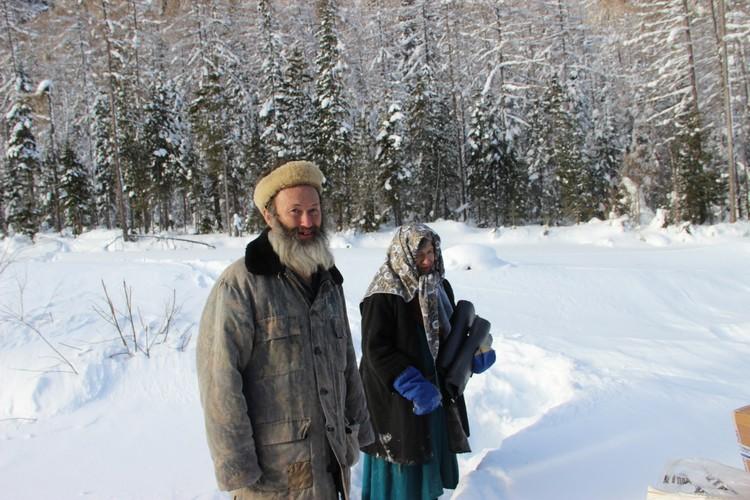 """Агафья и ее помощник Алексей. Фото: заповедник """"Хакасский""""."""