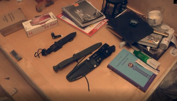 Оружие, найденное в квартирах Фото: ФСБ РФ