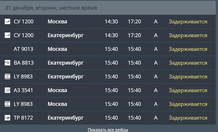 Скрин с сайта пермского аэропорта.