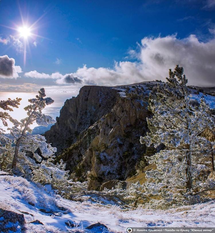 На Ай-Петри хозяйничает настоящая зима. Фото: Никита Крымский