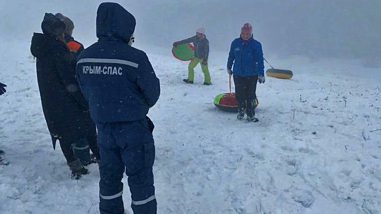 В праздничные дни неудачно скатились семь человек. Фото: пресс-служба МЧС РК