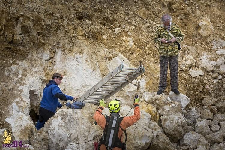 Вход в пещеру нашли при строительстве трассы Таврида. Фото: пресс-служба КФУ