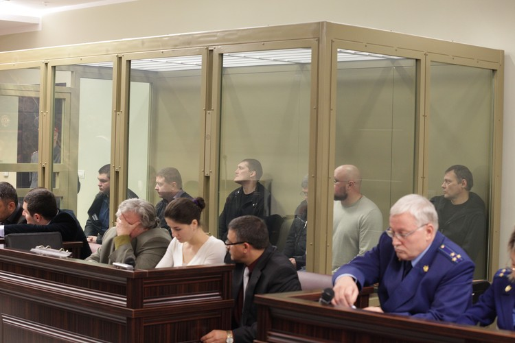 Банда цапков в ноябре 2013 года в зале суда