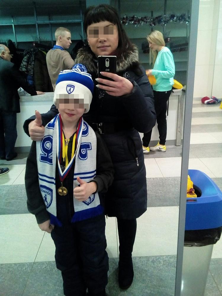 Саша со своей мамой