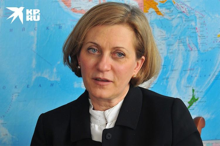 Руководитель Роспотребнадзора Анна Попова.