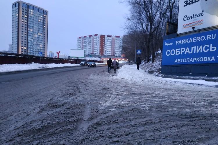 На дорогах снежная «каша» и наледь