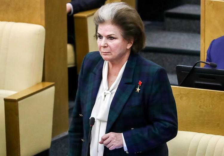 Терешкова предложила разрешить Путину идти на выборы главы государства еще раз. Фото: Антон Новодережкин/ТАСС