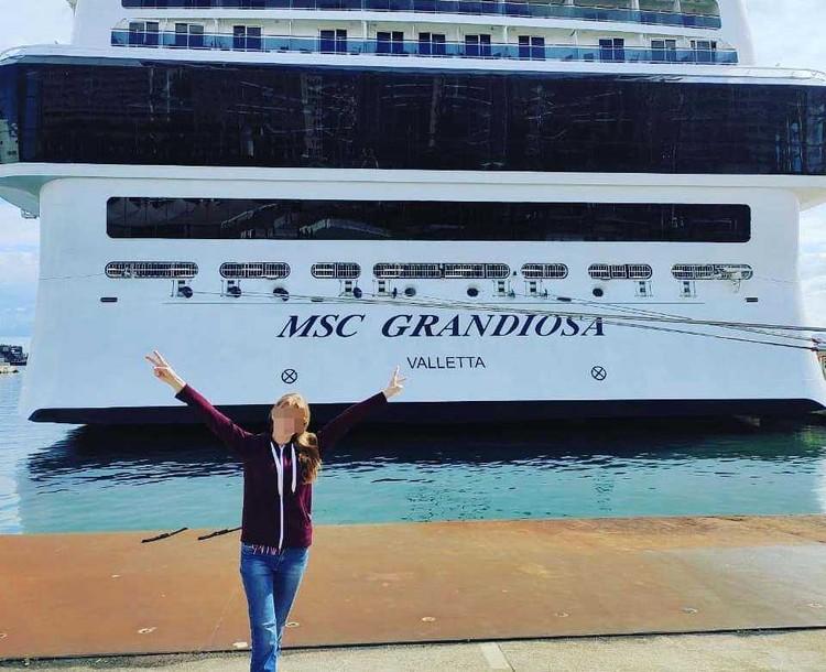 Сестры путешествовали на огромном круизном лайнере. Фото: соцсети