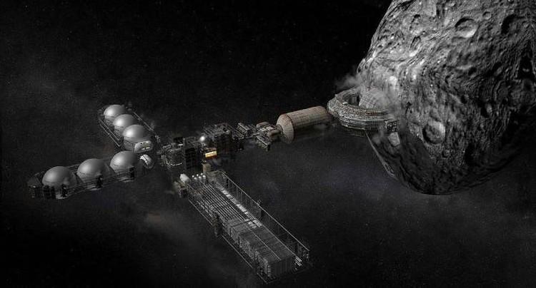 Первоисточники полезных ископаемых на Луне - астероиды.