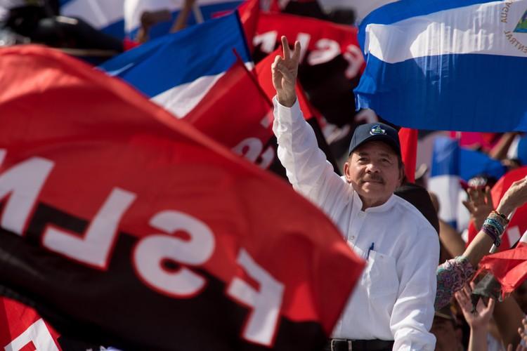 Президент Никарагуа Даниэль Ортега.