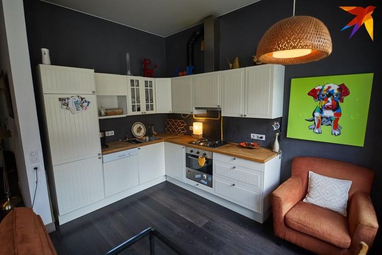 Кухня и техника куплены в IKEA.