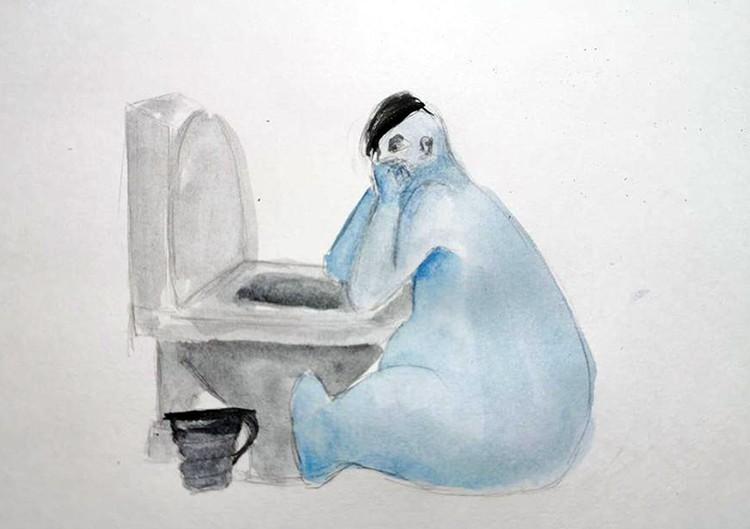 Катерина нарисовала свою болезнь