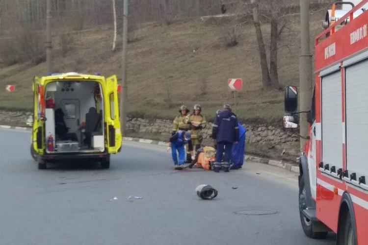 """Водитель скутера в тяжелом состоянии доставлен в больницу. ФОТО: """"Плохие новости. Дзержинск"""""""