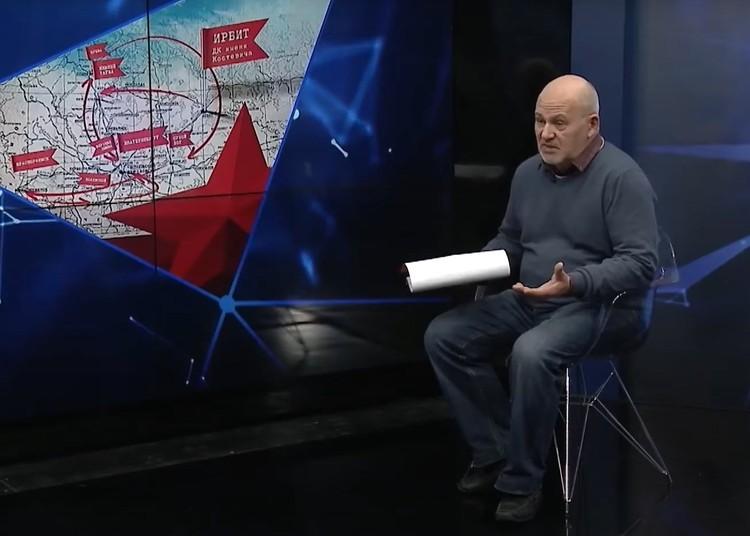 Кадр из телеинтервью заслуженного артиста России Юрия Бондаря. Фото: youtube.com/ОТВ