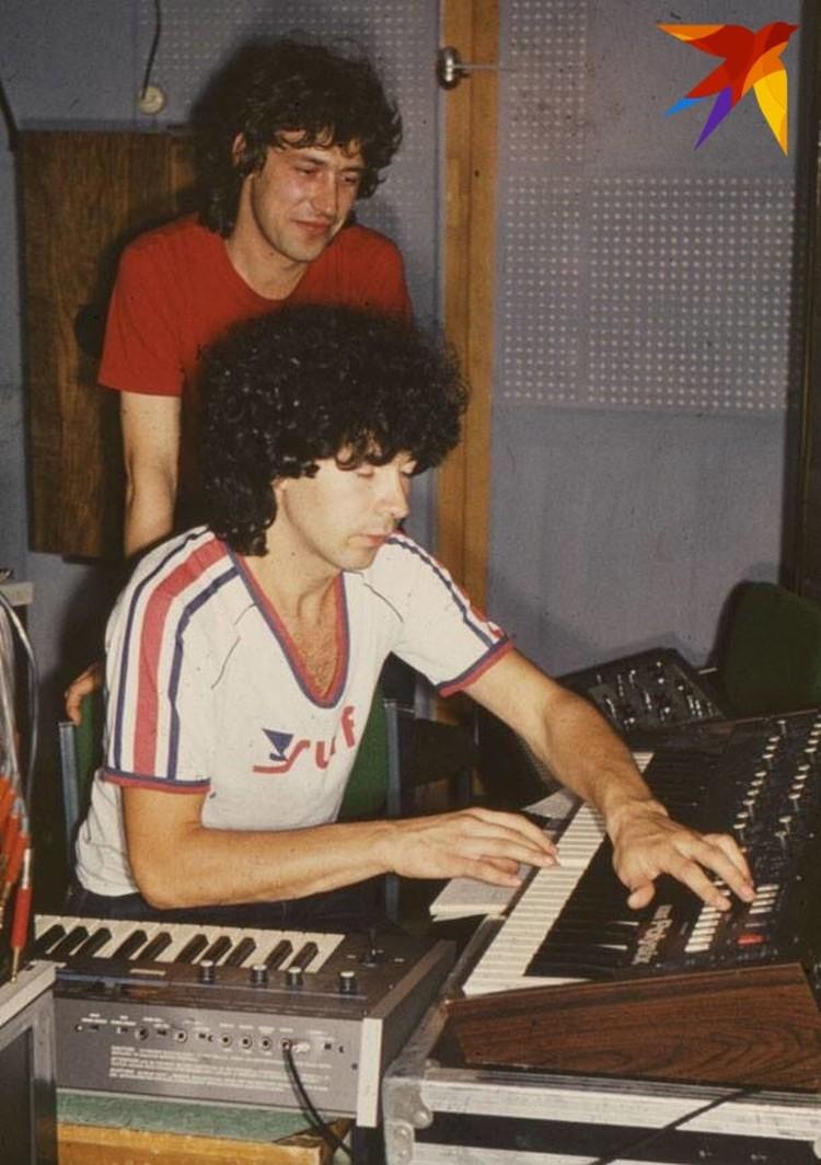 Братья Кузьмины за работой в 80-е годы.