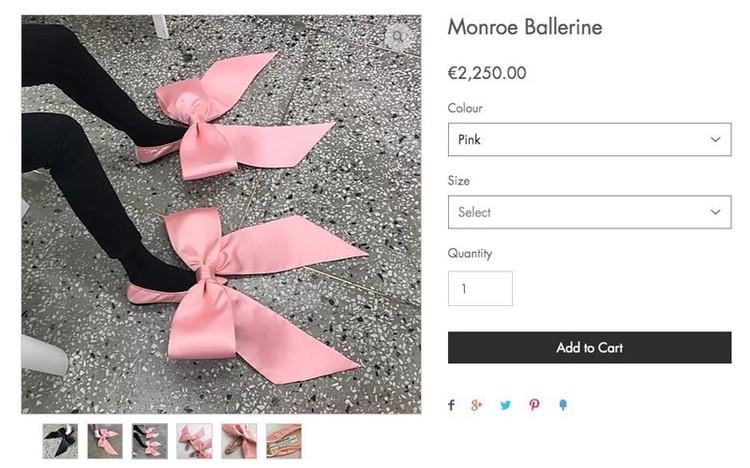 Балетки «Монро-балерина» - 2250 евро