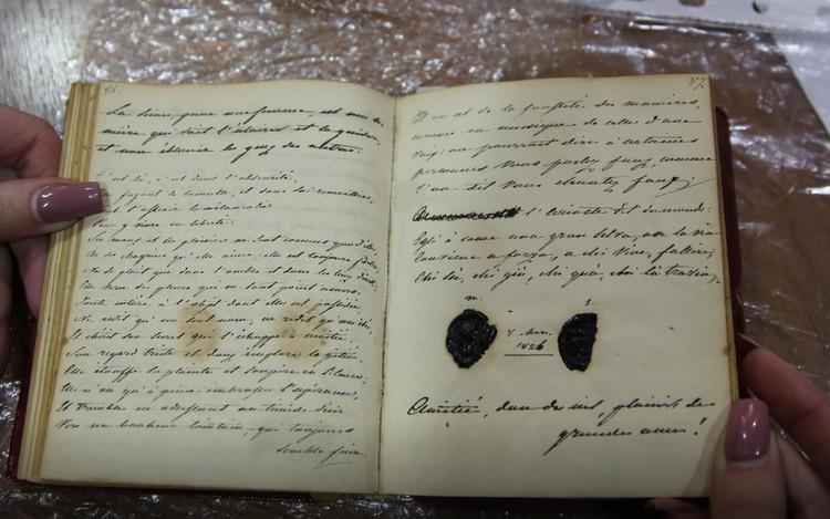 Страницы похищенного дневника Пушкина Фото: ГУ МВД по Краснодарскому краю