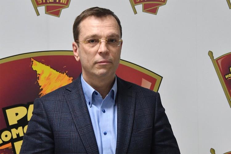 """Никита Кричевский в редакции """"Комсомольской правды""""."""