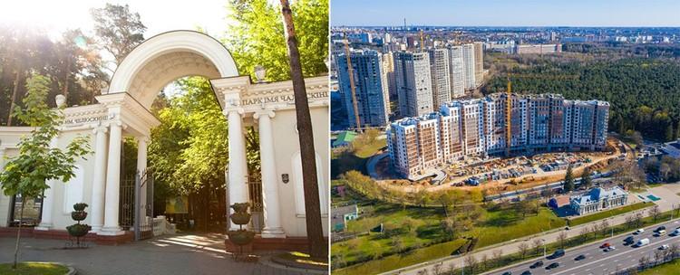 Рядом с комплексом – главный проспект столицы и сразу две станции метро.