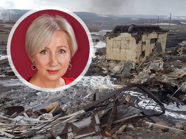 Татьяна Кулагина рассказала о способах ликвидации утечки топлива в Норильске